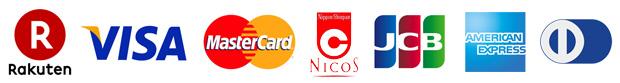 楽天カード VISAカード Master Card JCBカード American Express Diners card